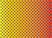 picture of metal grate  - Concept conceptual orange abstract metal stainless steel aluminum perforated pattern texture mesh background as metaphor to industrial - JPG