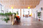 foto of beauty salon interior  - Interior of spa salon waiting room - JPG
