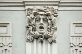 pic of building relief  - Medusa Gorgon - JPG