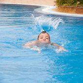 stock photo of swimming  - swimming pool background  - JPG