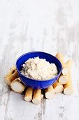 image of grated radish  - horseradish root and grated horseradish - JPG