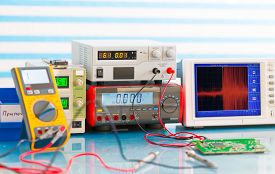 foto of electricity meter  - electronic measuring instruments - JPG