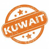 picture of kuwait  - Round rubber stamp with city name Kuwait and stars - JPG