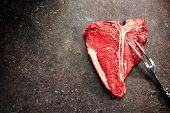 image of t-bone steak  - Raw fresh meat T - JPG