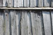 stock photo of dingy  - Old fence from dingy planks - JPG