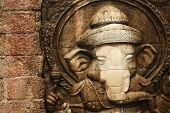 foto of worship  - Lord Ganesha is worshiped by the people - JPG