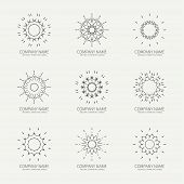 pic of symmetrical  - Simple monochrome geometric abstract symmetric shapes set - JPG