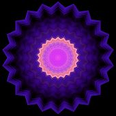 pic of color geometric shape  - Geometric pattern in serrated circle shape and a zoom effect - JPG