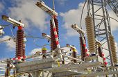 image of substation  - High voltage switch - JPG