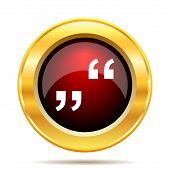 picture of quotation mark  - Quotation marks icon - JPG