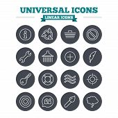 foto of universal sign  - Universal linear icons set - JPG