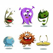 pic of ogre  - Simple cute invented characters in cartoon style - JPG