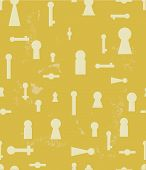 pic of keyhole  - Vintage seamless background with silhouettes of keyhole - JPG