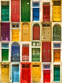 foto of door  - photo collage of colourful front doors to houses - JPG