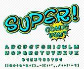image of alphabet  - Creative high detail comic font - JPG