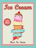 image of ice cream parlor  - Beautiful vintage menu card design for delicious Ice Cream - JPG