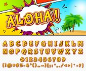 picture of alphabet  - Creative high detail comic font - JPG