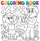 picture of soapy  - Coloring book children with bubble kit  - JPG