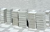 pic of paving  - Stack of paving stone on construction site - JPG