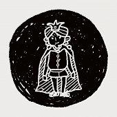 stock photo of prince charming  - Prince Doodle - JPG