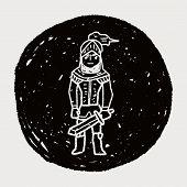 stock photo of paladin  - Knight Doodle - JPG