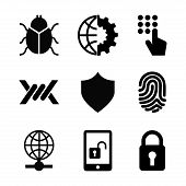 stock photo of virus scan  - security system icon  - JPG