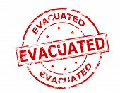 image of eviction  - Rubber stamp with word evacuated inside vector illustration - JPG