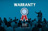 Warranty Guarantee Guaranty Quality Certificate Concept poster
