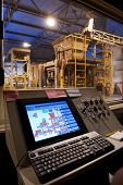 stock photo of assembly line  - Factory control room - JPG