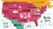 Map Of Usa poster