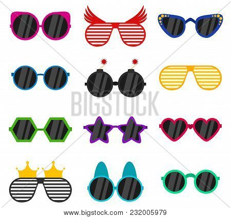 Vector Party Sunglasses Or Eyeglasses