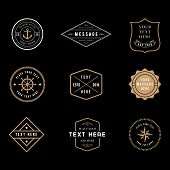 Vintage Badge Logos - Set Of Vintage Minimal Badge Logo Designs. poster