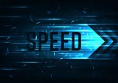 High Speed  Internet. Hi-tech. Abstract Technology Background Concept.speed  Movement Pattern And Mo poster