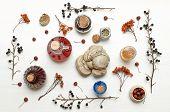 Herbal Medicine. Alternative Medicine Concept. Dry Organic Natural Ingridients. Wild Berry Medicinal poster