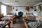 picture of bunk-bed  - A soldiers quarters inside the castle at Corgaff - JPG
