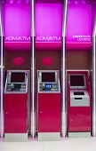 Pink Atm Machines And Passbook Update Machine. The Station Automatic Machines. poster
