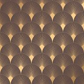 Art Deco Pattern. Seamless Golden Background. Minimalistic Geometric Design. Vector Line Design. 192 poster
