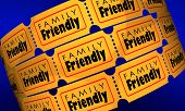 Family Friendly Movie Film Entertainment Tickets 3d Illustration poster