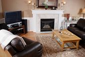 stock photo of cozy hearth  - A living - JPG