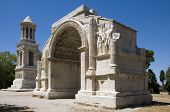 stock photo of gleaning  - The Triumphal Arch and Cenotaph at Glanum - JPG