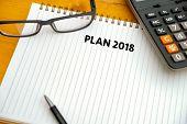 Plan 2018 Notebook Business Team Meeting  With An Plan 2018 poster
