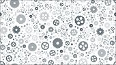 Geometrical Engineering Seamless Pattern. Abstract Gears Background. Vector Illustration. poster