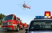 pic of rescue helicopter  - Fire department response - JPG