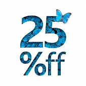 25% Off Discount. The Concept Of Spring Or Sammer Sale, Stylish Poster, Banner, Promotion, Ads. poster