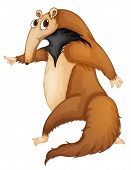 picture of ant-eater  - Illustration of a funny anteater  - JPG