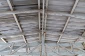 Roof Top Of Industrial, Roof Structures Of Industrial Building. Structural Of Roof Industrial. poster