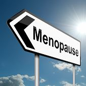 image of ovulation  - Illustration depicting a road traffic sign with a menopause concept - JPG