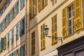 Nice France. June 12 2019. A View Of Typical Local Architecture In The Old Town In Nice France poster