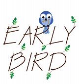 picture of maggot  - Early bird catches the worm twig text - JPG