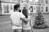 Fall In Love. Happy Together. Couple In Love Walking Having Fun. Tender Hug. Love Is A Game That Two poster